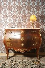 GRAND SPLENDID CHIFFONNIER COMMODE STYLE BAROQUE LOUIS XV PLATEAU DE MARBRE E8-1