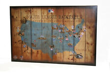 Major League Baseball Map with all MLB Teams from Dodgers to Texas Rangers