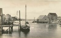 PEGGY'S COVE NS - Peggy's Cove Real Photo Postcard rppc