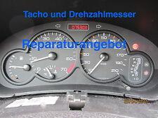 Reparatur Tacho und Drehzahlmesser Peugeot 206 Automatik 98-01 mit 2 Steckern