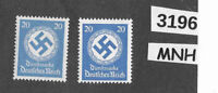 #3196  MNH stamp set / PF20 / WWII Germany / 1934 & 1942 Officials / Third Reich