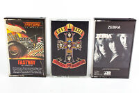 Fastway, Guns N' Roses & Zebra: Hard Rock Cassette Tapes Lot of 3