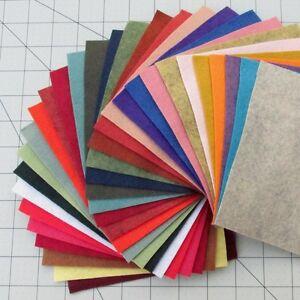 """30 - 12""""X12""""  Sheets Merino Wool blend Felt - Assorted Colors"""