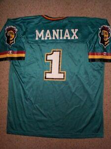 THROWBACK Memphis Maniax #1 nfl XFL Football Jersey Adult MEN'S/MENS (XL-48)