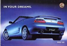 MG MGF SE Limited Edition 2000 UK Market Foldout Sales Brochure