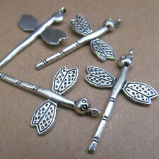 10x Tibetan Silver Dragonfly Animal Pendant Charms Beads Dangle Findings S492T