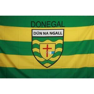 Donegal GAA Official 5 x 3 FT Flag - Large Crested Irish Gaelic Football Hurling