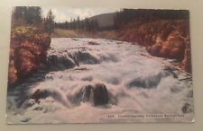 FIREHOLE CASCADES, YELLOWSTONE NATL PARK WY early divided postcard c.1917?