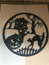 Vintage Halloween Blow Mold Ghost Pumpkin Cat Haunted Decoration Union Products