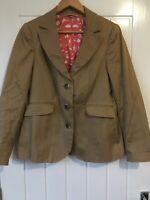 Boden Formal Beige Camel Colours Blazer Jacket Size 12