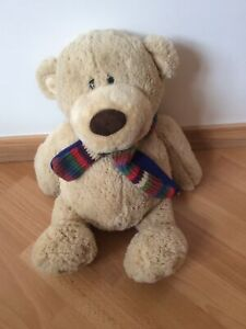 Brown Teddy Bear With Scarf - Keel Toys Super Soft Kids Toy Ideal Cuddly Gift