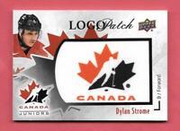 2016-17 Dylan Strome Upper Deck Team Canada Juniors Logo Patch - Arizona Coyotes
