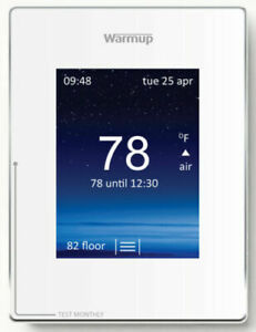 Warmup 4iE Portrait Smart Touch-Screen Thermostat Cloud White -NEW-