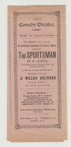 """ANTIQUE VICTORIAN ERA THEATRE PROGRAMME """"The Sportsman"""" The Comedy Theatre"""