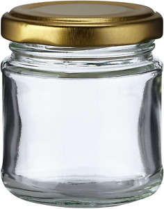 Nutley's 100ml Small Glass Jam Chutney Marmalade Jar Pack of 12