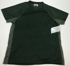 Fourcast Performance Athletic T-Shirt Moisture-Wicking Green Mens Size Large Nwt