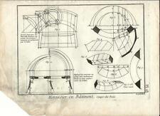Stampa antica LAVORAZIONE LEGNO Pl18 Enciclopedia Diderot 1790 Old antique print