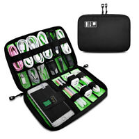 Cable Cord Organizer Electronics Accessories Travel Bag USB Hard Drive Case Gift