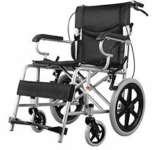 NEW Foldable Lightweight Manual Transport Medical Wheelchair (Black) 24lb