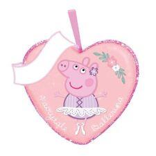"Valentine's Day Peppa Pig ""Fairytale Ballerina"" Ornament by Kurt Adler-Pink"