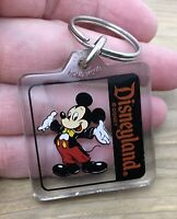 Vintage Mickey Mouse Disneyland Keychain Tux And Tails Disney Acrylic