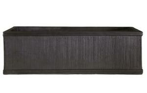 IDEALIST Contemporary Light Concrete Vertical Ribbed Vintage Style Window Box