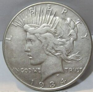 1934-P Peace Dollar - Tough Date - Low Mintage (954k)