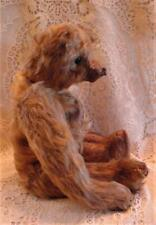 """Sweet 12"""" Old Mohair Teddy Bear! Excelsior Stuffed, Rust Color? Long Arms!"""