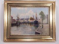 ANTICA MARINA DIPINTO OLIO SU TELA C.V. Larsen (1878-1947) ANTIQUE OIL PAINTING