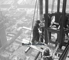 1911 Daredevil Construction Worker Atop NYC Woolworth Building Glass Negative #3