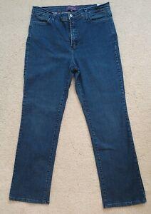 NYDJ Women's Jeans Size 16 Blue Straight Leg Lift Tuck Technology