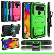 For LG V40 V50 ThinQ 5G Phone Case Shockproof With Belt Clip Stand Holster Cover
