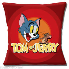 Tom & Jerry Cushion Cover 16 inch 40cm Disney Film Characters Cat & Mouse Red