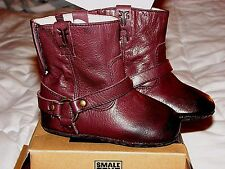 Frye Infant Leather Harness Boot Plum Merlot 6-9 Months Unisex Nib Adorable!
