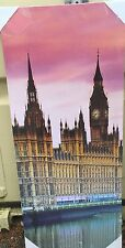 """Houses Of Parliment 20"""" x 48"""" Canvas print On A Wooden Stretcher Frame"""