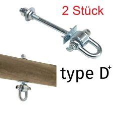 2 St. Schaukelhaken Safety M12 Sicherheitshaken für Holzstärke 9-12 cm / Typ D