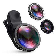 Cell Phone Lens Zoom Camera Clip On iPhone Samsung Smartphone 10X Macro Fisheye