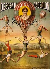 VINTAGE MISS STENA CIRCUS ADVERTISING A3 POSTER PRINT