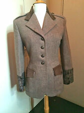 COMPLICE wool military safari style wool JACKET F38 US6