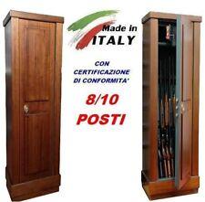 Armadietto contenitore blindato box legno porta fucili  8/10 posti caccia ITALY