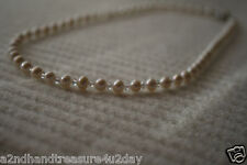 White Freshwater Pearl Czech Drilling Necklace Clasp New Fashion Fine Jewelry