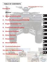 2006 Arctic Cat ATV 400 500 650 repair service shop tech manual in 3-ring binder