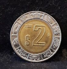 2001 Mexico 2 pesos, bi-metallic, KM-604                                    /N59