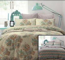Apartmento JAMILA Cream Turquoise Orange 3pc QUEEN QUILT DOONA COVER +2 CASE SET