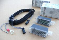 NEU Original Golf GTI R32 Passat R36 Touran VW LED Fußraumbeleuchtung Kabel SET