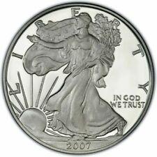 AMERICAN EAGLE SILVER BULLION COIN USA 1oz 2007 IN CAPSULE WALKING LIBERTY