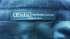 Polo by RALPH LAUREN Suit Jacket Made In Italy 100% VIRGIN WOOL 3 button