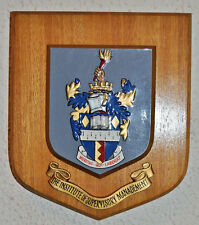 Institute of Supervisory Management plaque shield coat of arms crest institution