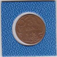 3 Pfennig Erfurt 1761 Johann Friedrich Karl Graf von Ostein prima Erhaltung
