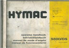 HYMAC EXCAVATOR 580D & 580DS OPERATORS MANUAL
